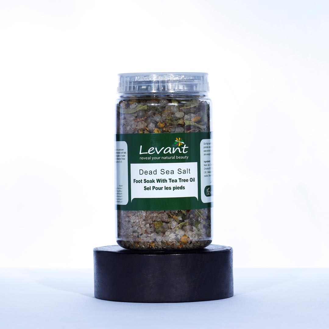 Dead Sea Salts Foot Soak With Tea Tree Oil And Chamomile Flower