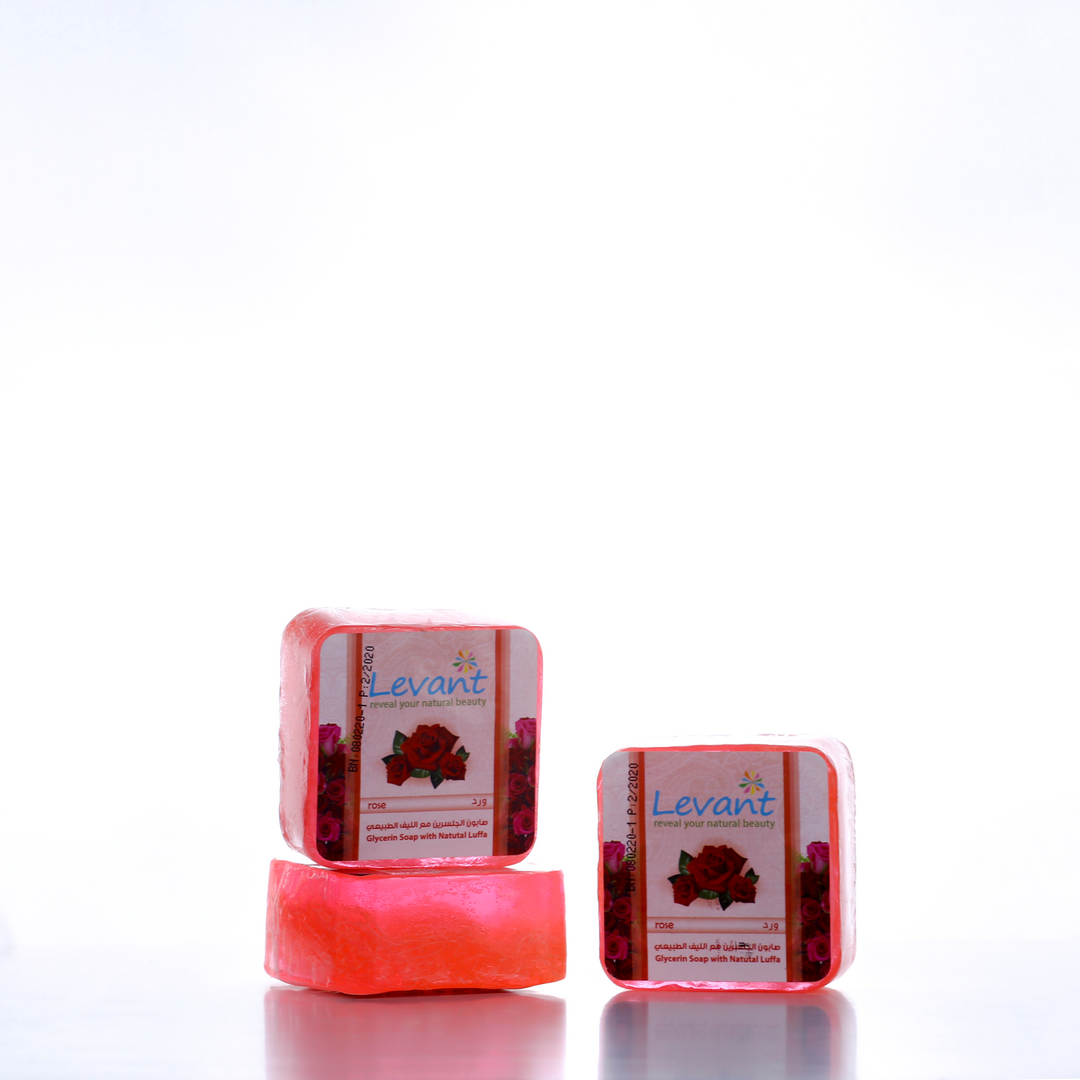 Glycerin Soap With Natural Luffa – Rose